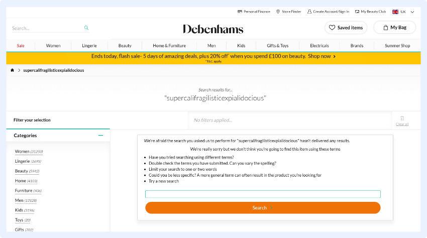 Debenhams - Fokus auf der sofortigen Hilfestellung