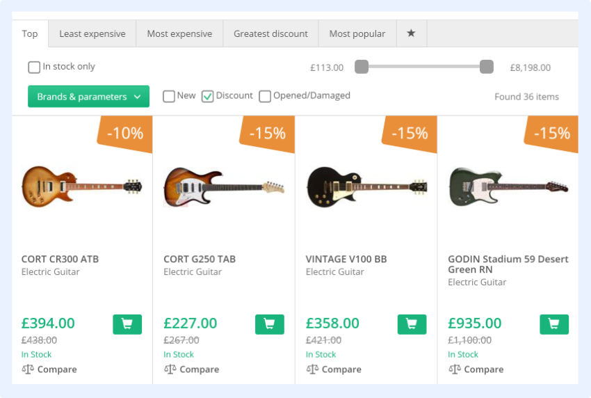 "use ""on sale"" filters on eCommerce category pages"