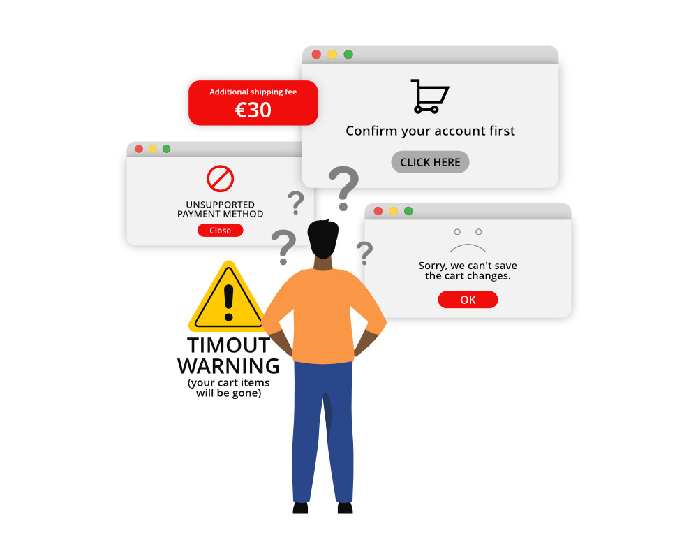 Too Complex Check-out process in eCommerce
