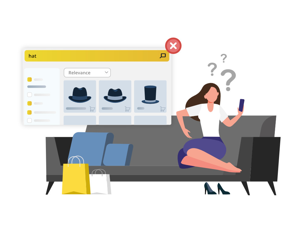 Lack of personalization in eCommerce store's site search results